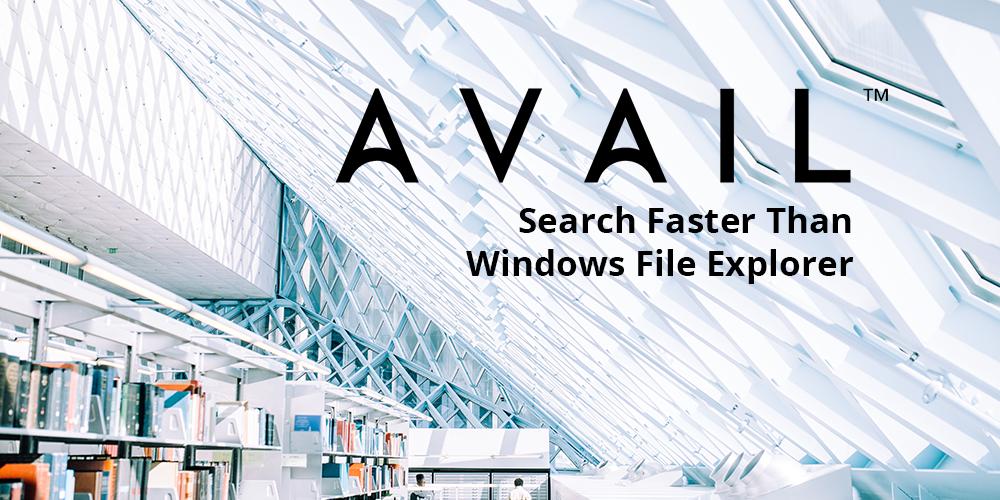 Search Faster Than Windows File Explorer